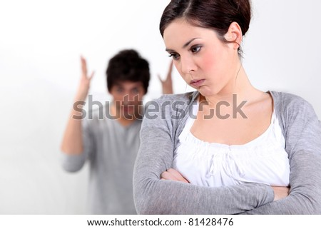 Couple having an argument - stock photo