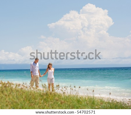 couple having fun at beach