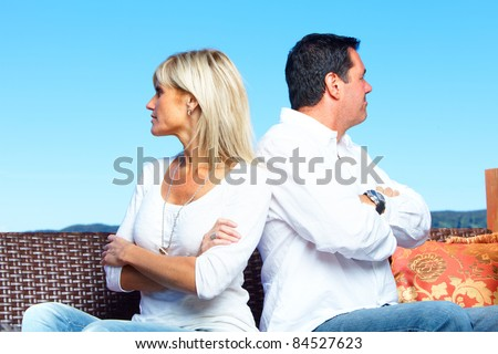 Couple having some problems. Divorce. - stock photo