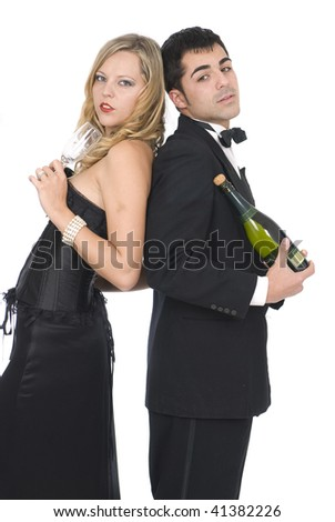 couple in a celebration party - stock photo