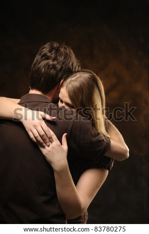 Couple in an embrace