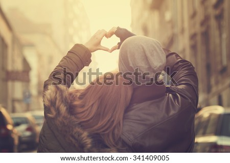 Couple in love. - stock photo