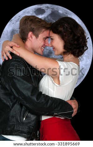 Couple in love man and a woman - stock photo