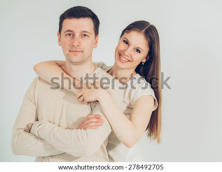 Couple in love together portrait  - stock photo