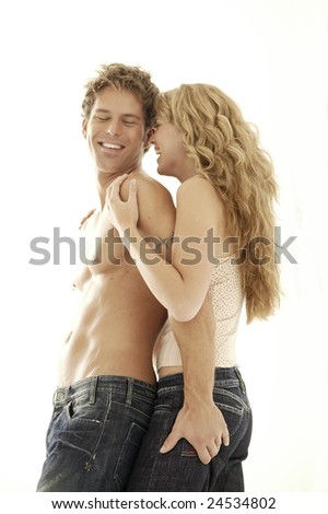 couple in love valentine day - stock photo