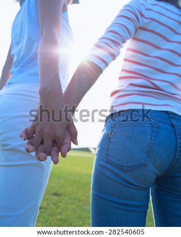 couple in love walking - stock photo