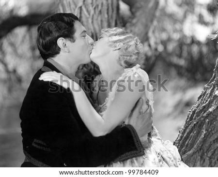 Couple kissing passionately - stock photo