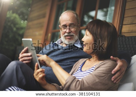 Couple Lifestyle Vacation Home Bonding Concept - stock photo