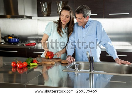 couple looking the vegetable