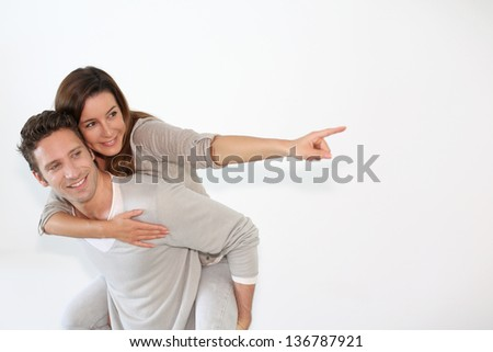 Couple looking towards their future - stock photo