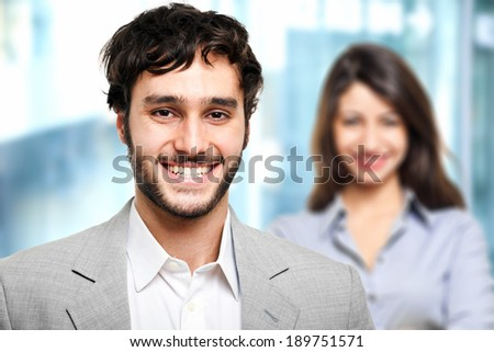 Couple of business people - stock photo