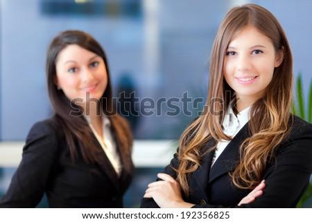 Couple of businesswoman - stock photo
