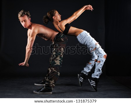 Couple of dancers - stock photo