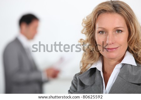 couple of executive - stock photo