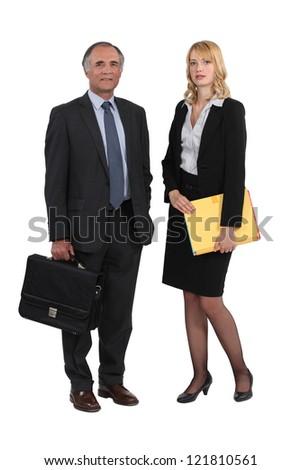 Couple of executives - stock photo