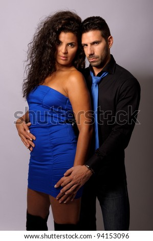 couple of loves together in sexy position - stock photo