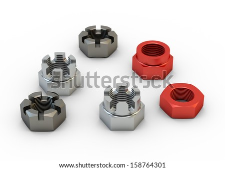 Couple of screws isolated on the white backgrounds  - stock photo