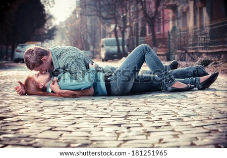 Teenagers Kissing Stock Images Royalty Free Images