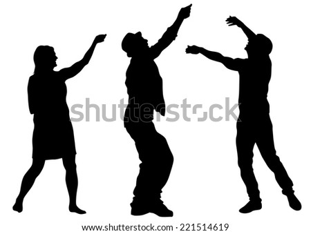Couple of young guy and girl on white background - stock photo