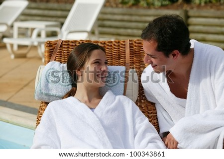 Couple on a romantic getaway