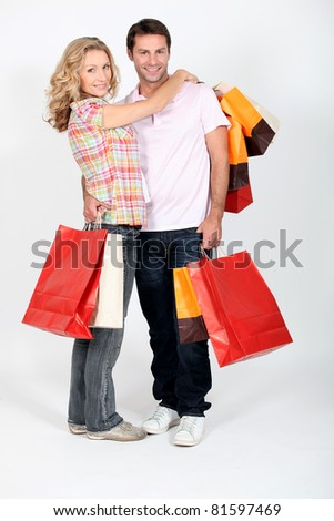 Couple on a shopping spree