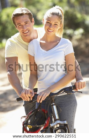 Couple On Cycle Ride Together