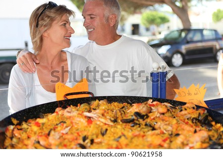 Couple on holiday in Spain - stock photo