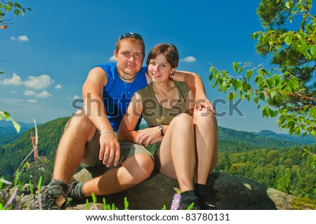 couple on nature