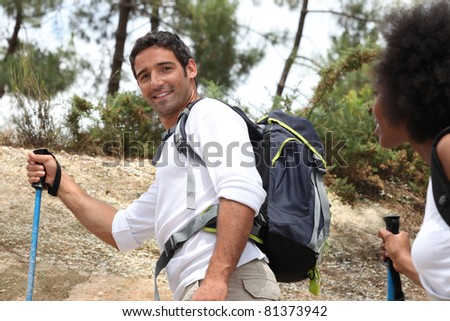 Couple on rambling holiday
