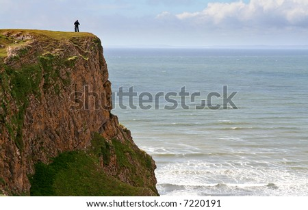 couple on top of cliff