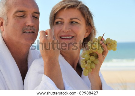 Couple on vacation - stock photo