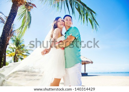 Couple on wedding day in Bali