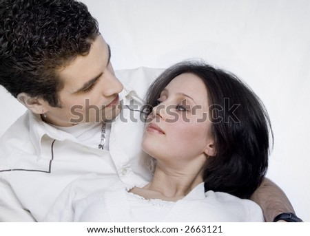 Couple portrait cuddling