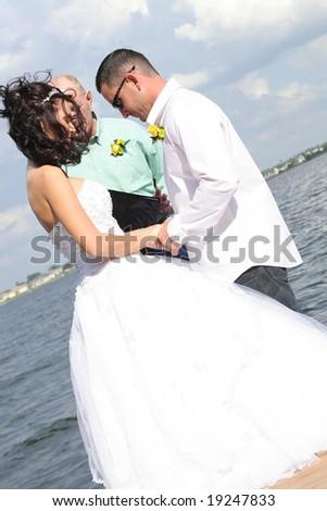 couple praying - stock photo
