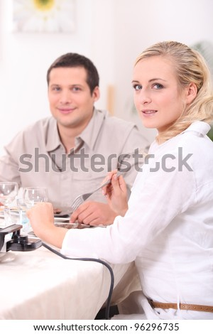 Couple's meal - stock photo
