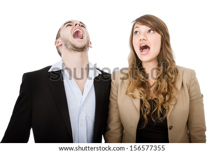 couple screaming