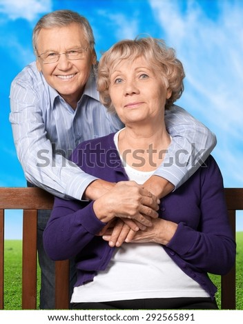 Couple, Senior Adult, Old. - stock photo