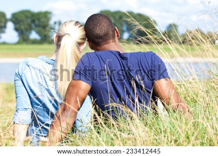 Couple spending time outside - stock photo