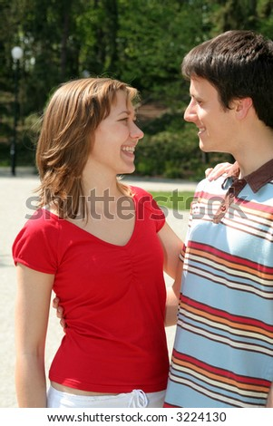 Couple Standing in Park