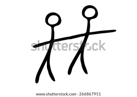 couple symbol - stock photo