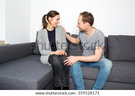 Couple talking