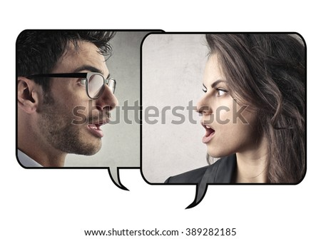 Couple troubles - stock photo