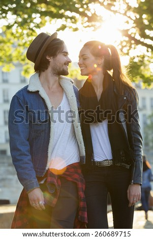Couple visiting Paris - stock photo
