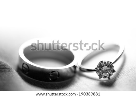 Couple wedding ring - stock photo