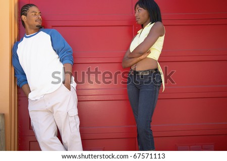 Couple with attitude - stock photo