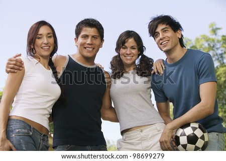 Couples at the Park - stock photo