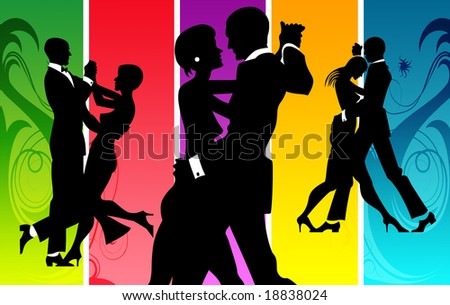 Couples dancing in a lounge
