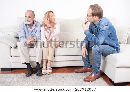 Couples therapy at a psychologist - stock photo