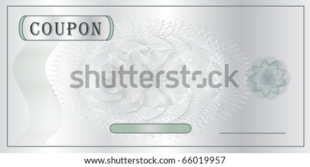 Coupon - certificate raster template - stock photo