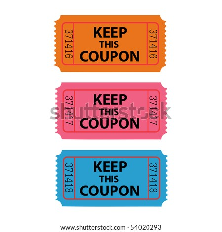 Coupon Illustration. EPS available in my portfolio.